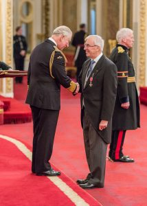 20.12.18 Prince of Wales presents JC with MBE