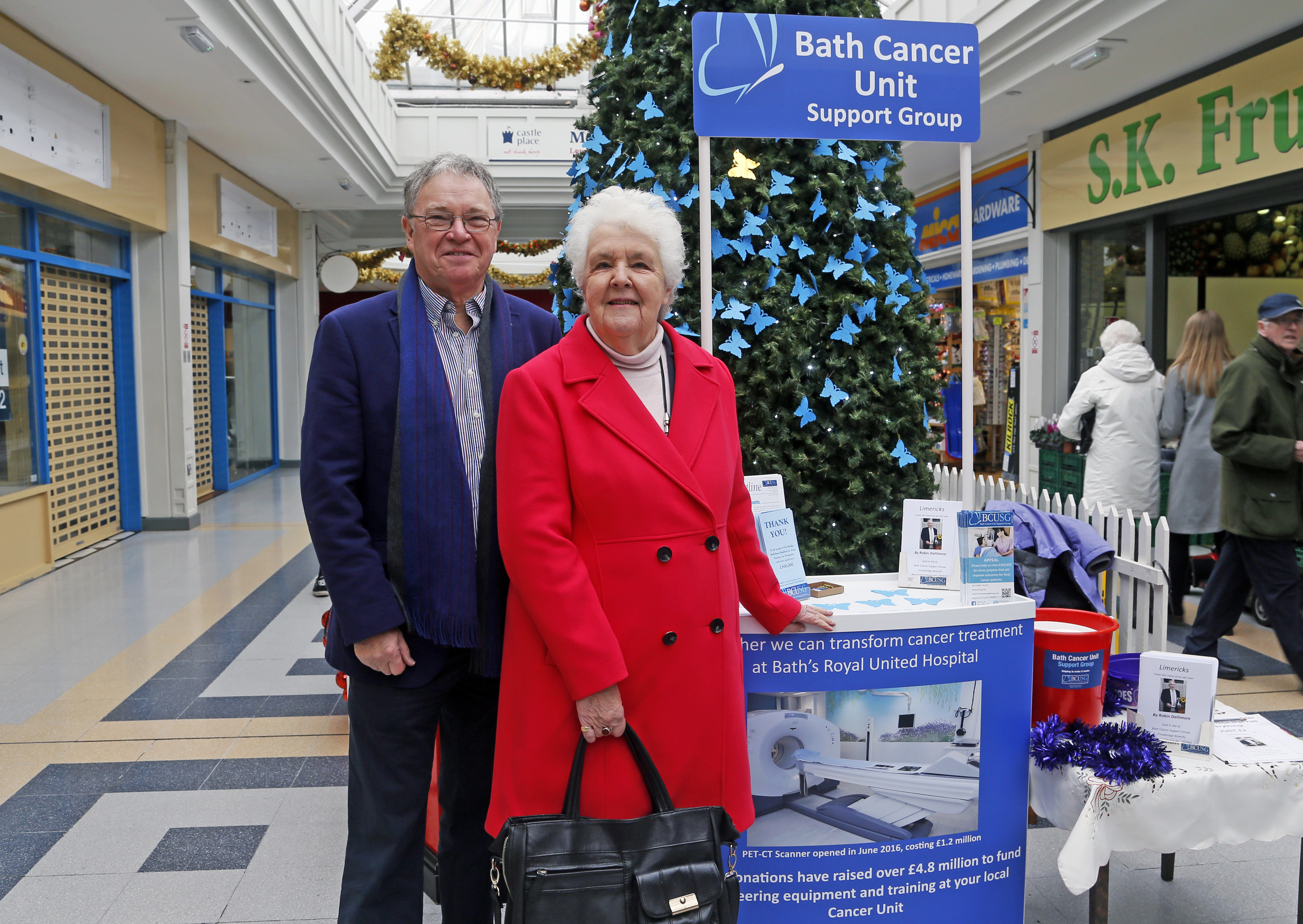 Chairman Mike Taylor with Stephanie Cole