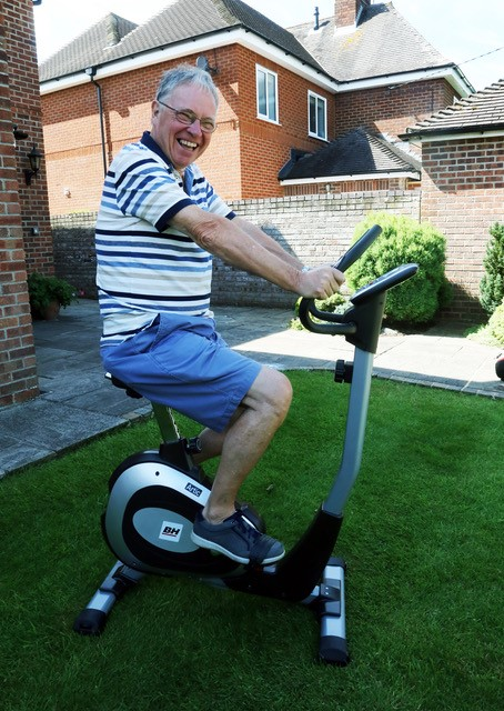 Mike on Exercise Bike 1